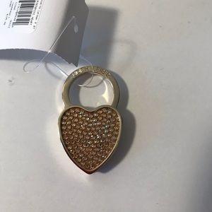 Judith Leiber crystal heart keyring